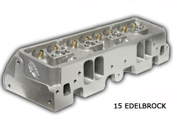 Edelbrock 15 degree small Block Chevy Racing Cylinder Head